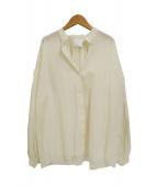 TWINS FLORENCE(ツインズフローレンス)の古着「ボリュームスリーブブラウス」 アイボリー