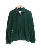 POLO RALPH LAUREN(ポロラルフローレン)の古着「80'sロゴ刺繍フリーススイングトップジャケット」|グリーン