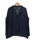 BEAMS PLUS(ビームスプラス)の古着「4ボタンシャツカフ コットンジャケット」|インディゴ