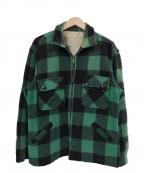 Sears(シアーズ)の古着「60sウールチェックブルゾン」|グリーン×ブラック