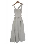 CASA FLINE(カーサフライン)の古着「フロントホックプリーツワンピース」|アイボリー