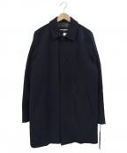 Karl Lagerfeld(カール ラガーフェルド)の古着「ウール混ステンカラーコート」|ネイビー