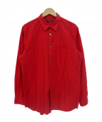 COMME des GARCONS HommePlus(コムデギャルソン オムプリュス)の古着「レギュラーカラーコットンL/Sシャツ」|レッド
