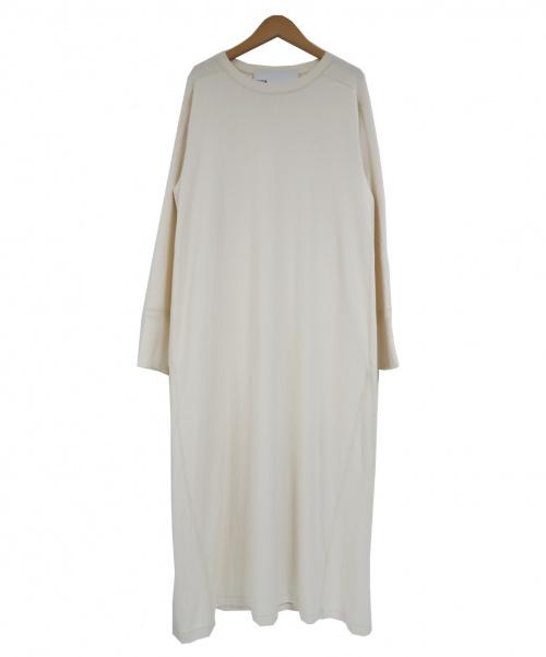 TICCA(ティッカ)TICCA (ティッカ) クルーネックL/Sマキシカットソーワンピース ホワイト サイズ:FREEの古着・服飾アイテム
