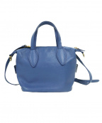Odette e Odile(オデットエオディール)の古着「3WAYレザーバッグ」|ブルー