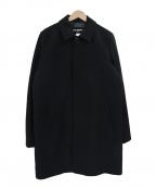 Karl Lagerfeld(カール ラガーフェルド)の古着「ウール混ステンカラーコート」|ブラック