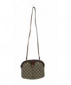 GUCCI accessory collection(グッチ アクセサリーコレクション)の古着「ヴィンテージGG柄ショルダーバッグ」|ベージュ