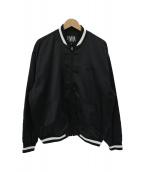 ELVIRA(エルヴィラ)の古着「バックプリントスタジャン」|ブラック×ホワイト