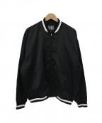 ELVIRA(エルビラ)の古着「バックプリントスタジャン」|ブラック×ホワイト