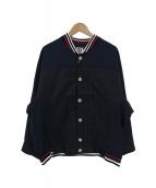 FRAPBOIS(フラボア)の古着「シャツカフストラッカーブルゾン」|ネイビー