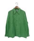 TOWN CRAFT(タウンクラフト)の古着「60sレギュラーカラーシャツ」 黄緑