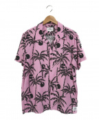 THE CRIMIE(ザ クライミー)の古着「アロハシャツ」|ピンク×ブラック