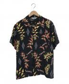 CALEE(キャリー)の古着「レーヨンネイティブアロハシャツ」|ブラック
