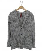ernesto(エルネスト)の古着「ツイードテーラードジャケット」|ブルー×ホワイト