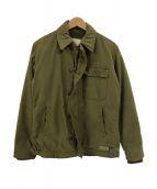 US NAVY(ユーエスネイビー)の古着「【古着】70sバックステンシルA2デッキジャケット」|カーキ