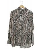Vaporize(ヴェイパライズ)の古着「バックアジャストゼブラ柄シャツ」 ベージュ