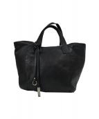 GIANNI CHIARINI(ジャンニキャリーニ)の古着「レザートートバッグ」|ブラック