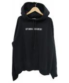 OPENING CEREMONY(オープニングセレモニー)の古着「ロゴ刺繍ビッグプルオーバーパーカー」 ブラック