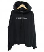 OPENING CEREMONY(オープニングセレモニー)の古着「ロゴ刺繍ビッグプルオーバーパーカー」|ブラック