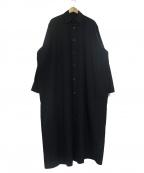 th/TARO HORIUCHI()の古着「ロングシャツ」|ブラック