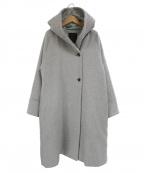 LA MARINE FRANCAISE(マリンフランセーズ)の古着「両面パイルフード衿ラグランウールコート」|グレー