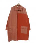 N.HOOLYWOOD()の古着「ステンカラーコート」 オレンジ