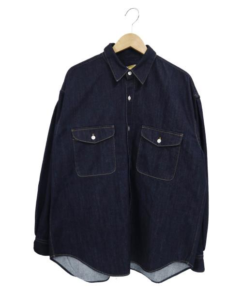 SEVEN BY SEVEN(セブンバイセブン)SEVEN BY SEVEN (セブンバイセブン) デニムタックシャツ インディゴ サイズ:M 未使用品の古着・服飾アイテム