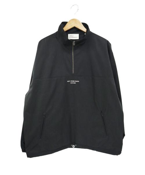 DROLE DE MONSIEUR(ドロールドムッシュ)DROLE DE MONSIEUR (ドロールドムッシュ) ハーフジッププルオーバージャケット ブラック サイズ:Mの古着・服飾アイテム