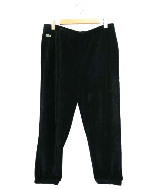 Supreme×LACOSTE(シュプリーム×ラコステ)Supreme×LACOSTE (シュプリーム×ラコステ) コラボベロアトラックパンツ ブラック サイズ:M 18SSの古着・服飾アイテム