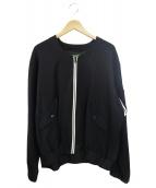 SASQUATCHfabrix.(サスクワァッチファブリックス)の古着「刺繍デザインG-1ジャケット」|ブラック