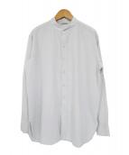 AURALEE(オーラリー)の古着「バンドカラーツイルL/Sシャツ」|ブルー