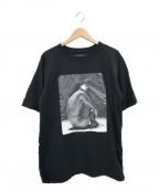 DRESSEDUNDRESSED(ドレスドアンドレスド)の古着「ヌードフォトプリントTシャツ」 ブラック