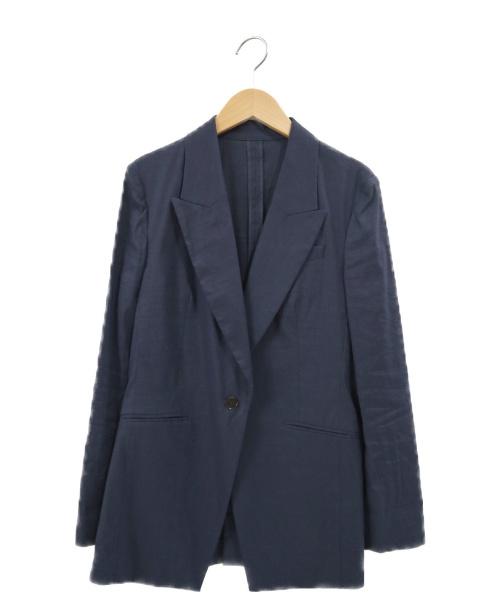 DES PRES(デ・プレ)DES PRES (デ・プレ) L/Nストレッチピークドラペルジャケット ネイビー サイズ:34 20SS 22070207351の古着・服飾アイテム