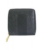 TOFF&LOADSTONE(トフアンドロードストーン)の古着「2つ折りラウンドジップ財布」 ブラック