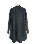 GROUND Y(グラウンドワイ)の古着「カラーカッティングロングシャツ」|ブラック