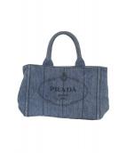 PRADA(プラダ)の古着「カナパミニトートバッグ」|ネイビー