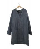()の古着「カラーレスデニムコート」|インディゴ