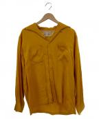 Dry Bones(ドライボーンズ)の古着「バック刺繍イタリアンカラーレーヨンL/Sシャツ」|イエロー