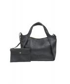 STELLA McCARTNEY(ステラマッカートニー)の古着「PVCステラロゴ2WAYトートバッグ」|ブラック