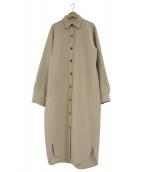 ARCH THE(アーチザ)の古着「ロングウールシャツコート」 ベージュ