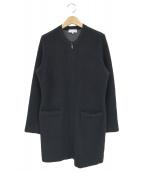MACKINTOSH LONDON(マッキントッシュ ロンドン)の古着「ジップアップロングニットジャケット」|ブラック