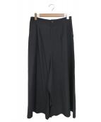 yohji yamamoto+Noir(ヨウジヤマモト プリュス ノアール)の古着「ウールギャバジンロングスカート」|ブラック