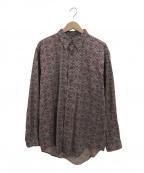 Christian Dior MONSIEUR(クリスチャンディオールムッシュ)の古着「【古着】ヴィンテージ総柄シャツ」|ボルドー