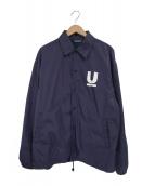 UNDERCOVER(アンダーカバー)の古着「Uロゴプリントコーチジャケット」|ネイビー