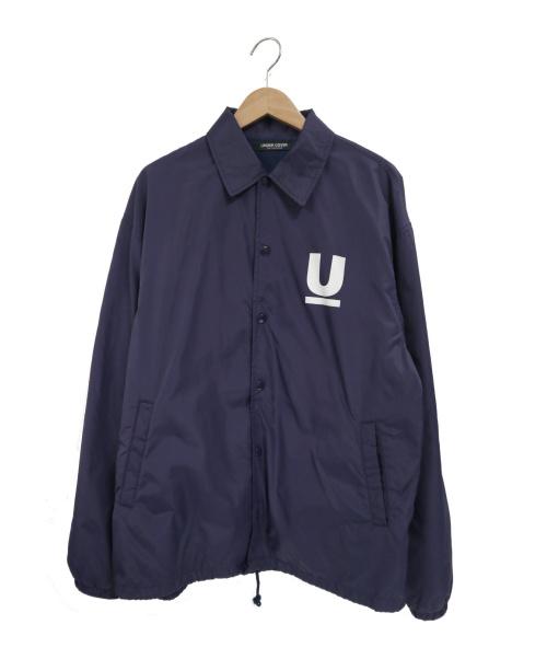 UNDERCOVER(アンダーカバー)UNDERCOVER (アンダーカバー) Uロゴプリントコーチジャケット ネイビー サイズ:3 MUT9202-3の古着・服飾アイテム