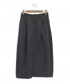 FWk Engineered Garments(エフダブリューケーエンジニアードガーメンツ)の古着「コットンウールフランネルタックスカート」|グレー