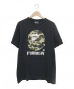 A BATHING APE(エイプ)の古着「サルカモプリントTシャツ」|ブラック