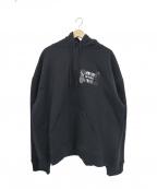M+RC NOIR(マルシェノア)の古着「ブラックスプリットフーディー」|ブラック