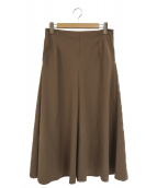 MUSE de Deuxieme Classe(ミューズデドゥーズィエムクラス)の古着「Vis clothマキシスカート」|ブラウン