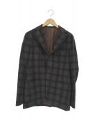 Brilla per il gusto(ブリッラ ペル イル グスト)の古着「ウールチェックテーラードジャケット」|ブラウン